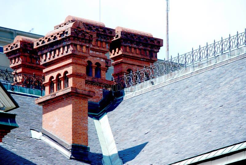 Câmara municipal do telhado em Sapporo foto de stock
