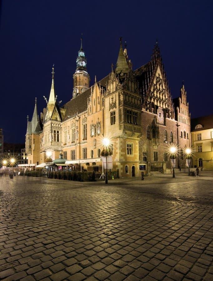 Câmara municipal do Wroclaw imagem de stock
