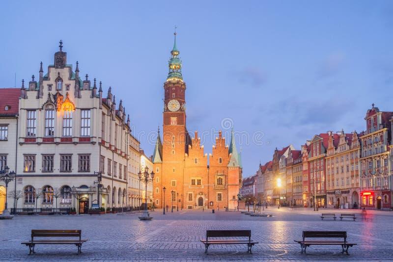 Câmara municipal do Wroclaw, Poland fotografia de stock
