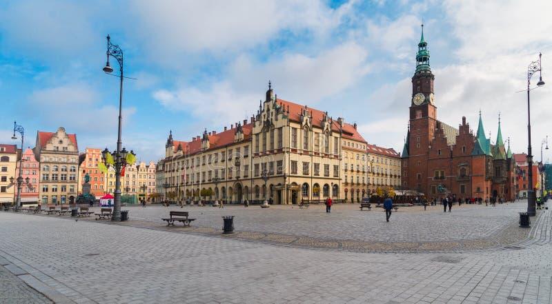 Câmara municipal do Wroclaw, Poland fotografia de stock royalty free