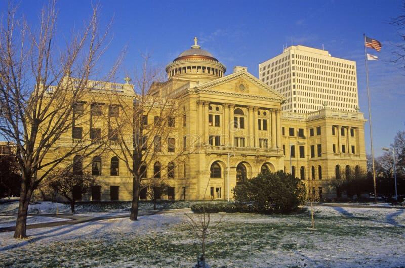 Câmara municipal e construção municipal, Toledo, OH foto de stock