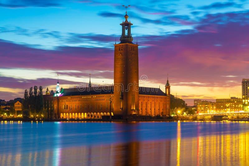 Câmara municipal em Éstocolmo, Suécia fotos de stock