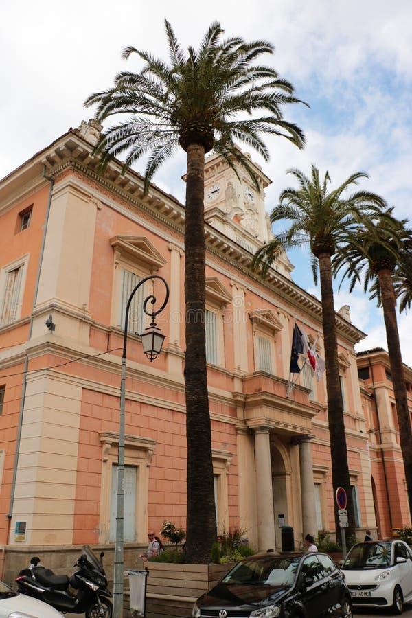 Câmara municipal em Ajácio, Córsega imagem de stock royalty free