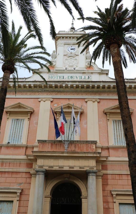 Câmara municipal em Ajácio, Córsega fotos de stock