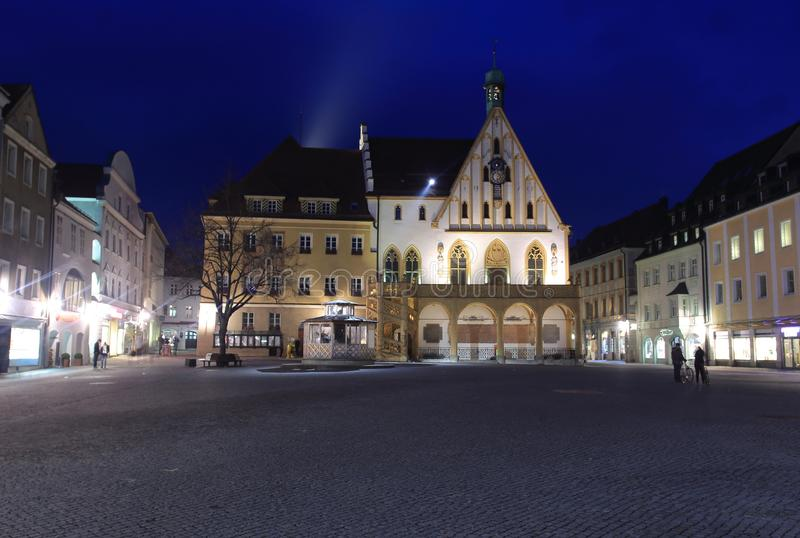 Câmara municipal em Amberg fotografia de stock