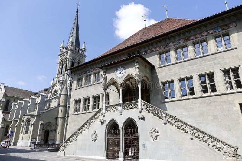 Câmara municipal em Berna em Suíça imagens de stock royalty free