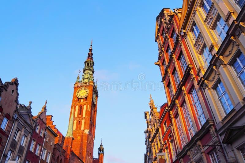 Câmara municipal em Gdansk, Polônia fotografia de stock royalty free