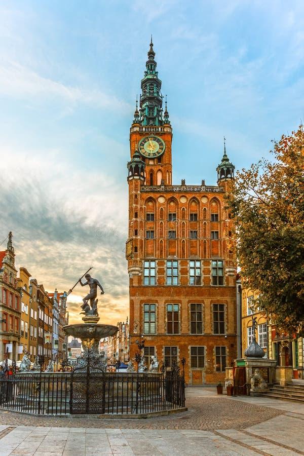 Câmara municipal em Gdansk, Polônia foto de stock royalty free