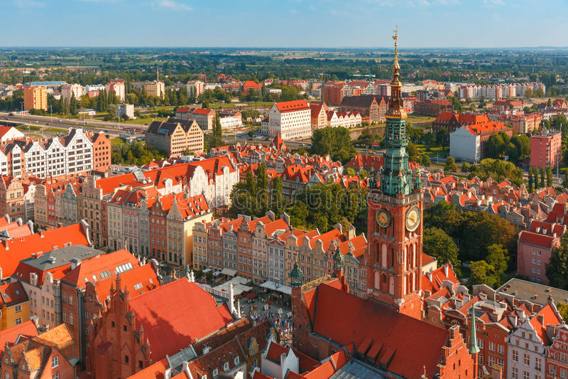 Câmara municipal em Gdansk, Polônia imagens de stock royalty free