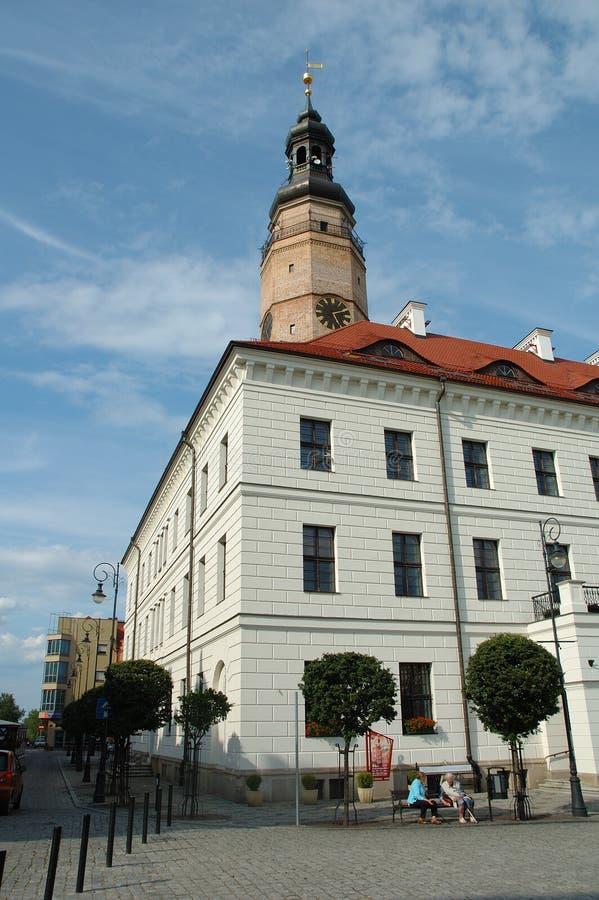 Câmara municipal em Glogow, Polônia fotos de stock
