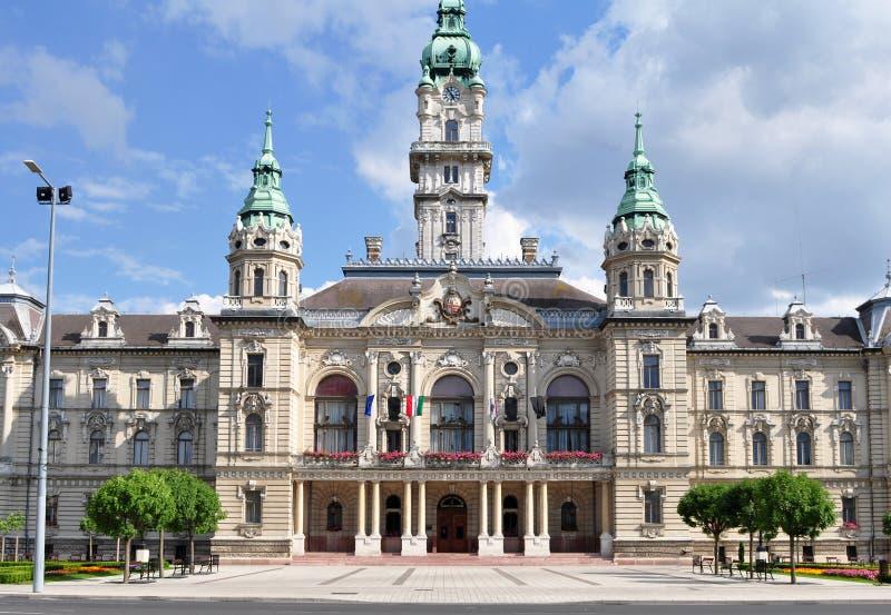 Câmara municipal em Gyor foto de stock
