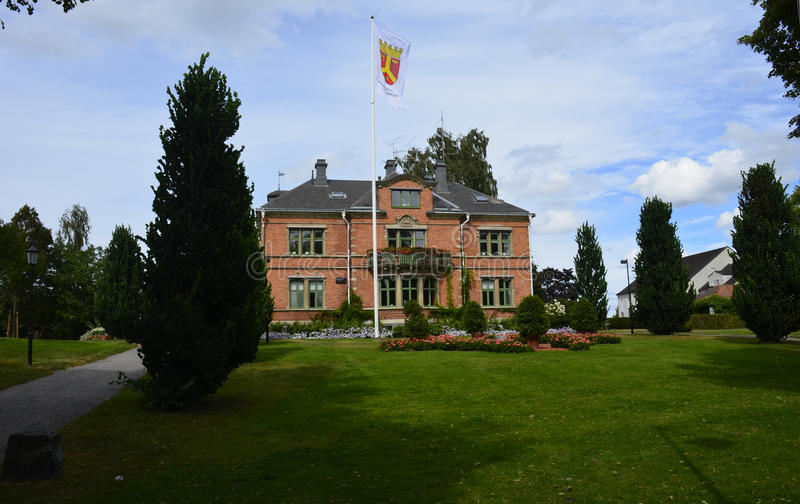 Câmara municipal em Katrineholm, Suécia imagens de stock