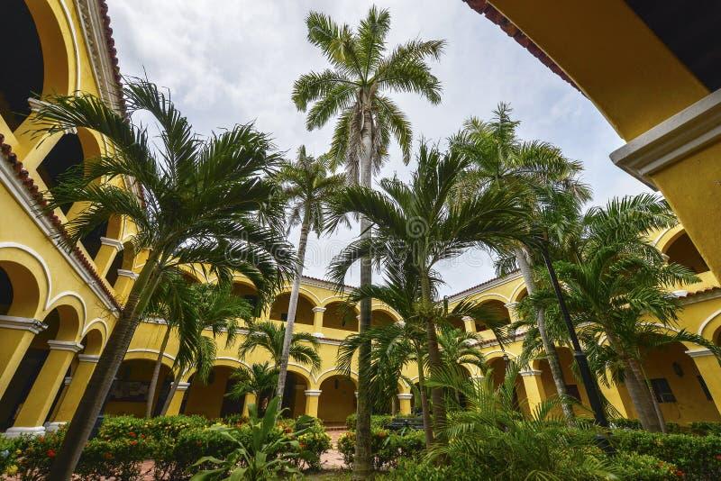 Câmara municipal em Mompox , Colômbia imagem de stock royalty free