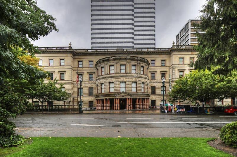 Câmara municipal em Portland, Oregon fotos de stock royalty free
