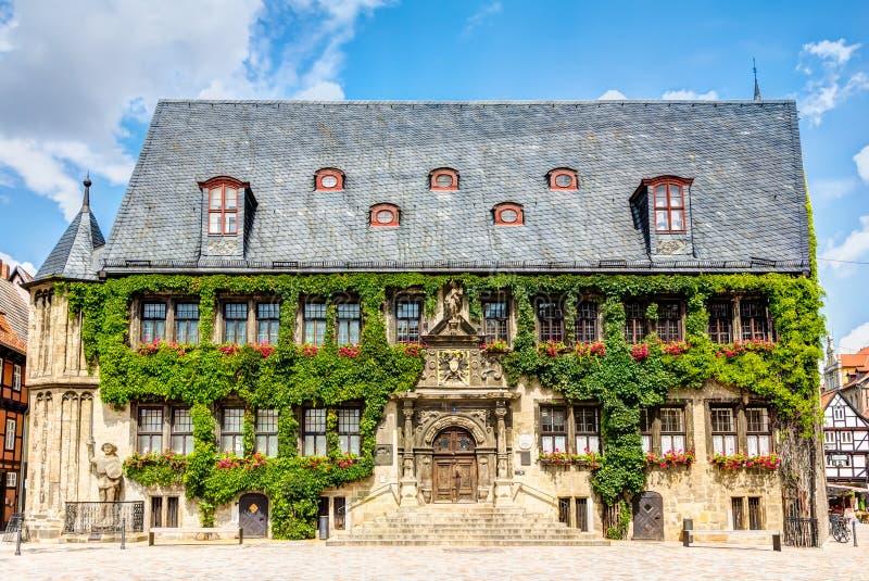 Câmara municipal em Quedlinburg, Alemanha fotografia de stock royalty free