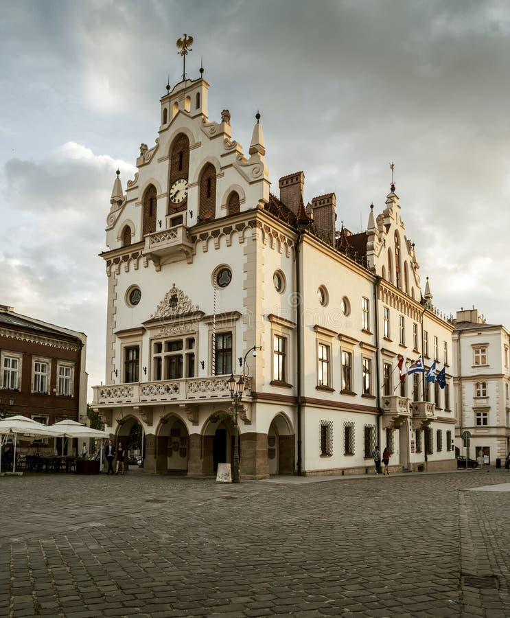 Câmara municipal em Rzeszow, Polônia imagem de stock royalty free