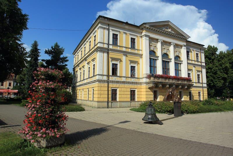 Câmara municipal em Spisska Nova Ves imagem de stock