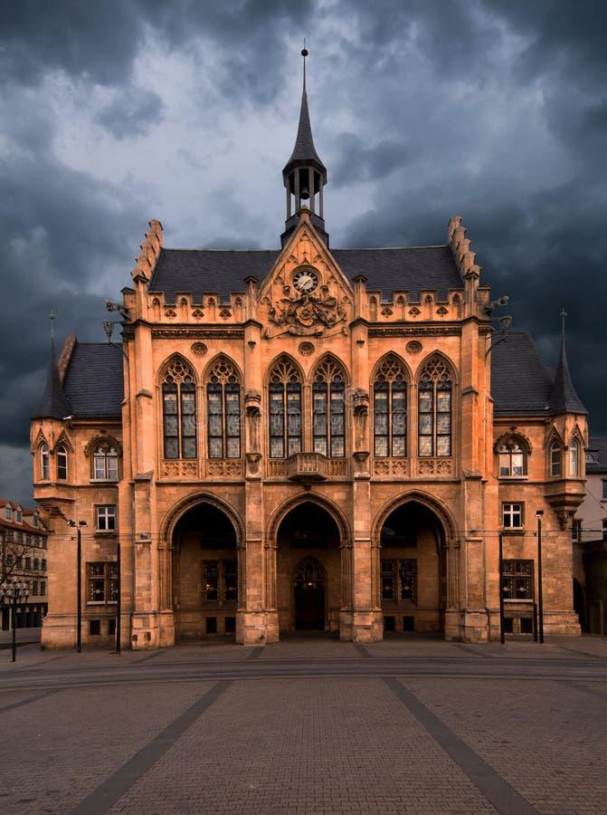 Câmara municipal, Erfurt, Thuringia, Alemanha fotografia de stock royalty free