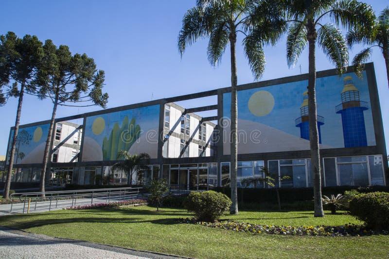 Câmara municipal estado da arquitetura da cidade de Curitiba, Parana, Brasil Em julho de 2017 foto de stock