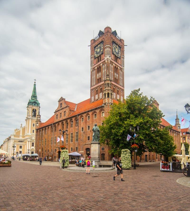 Câmara municipal gótico em Torun imagens de stock