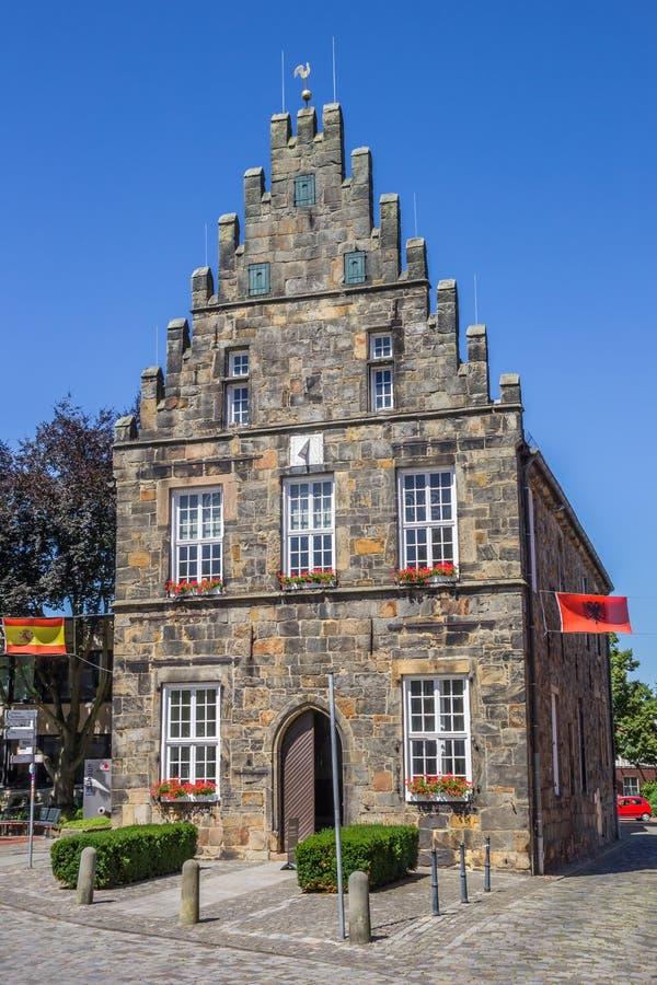 Câmara municipal histórica no centro de Schuttorf fotografia de stock royalty free