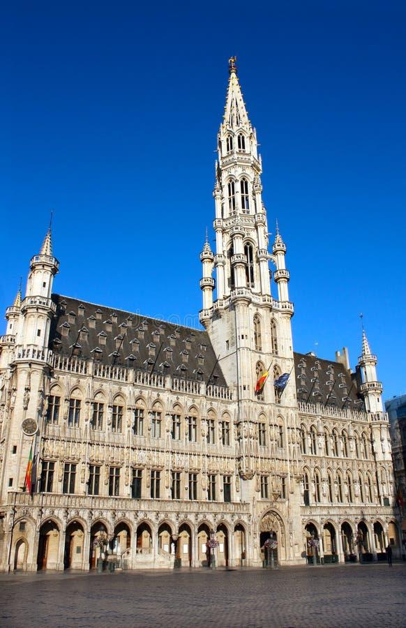 Câmara municipal no lugar grande, Bruxelas, Bélgica foto de stock royalty free