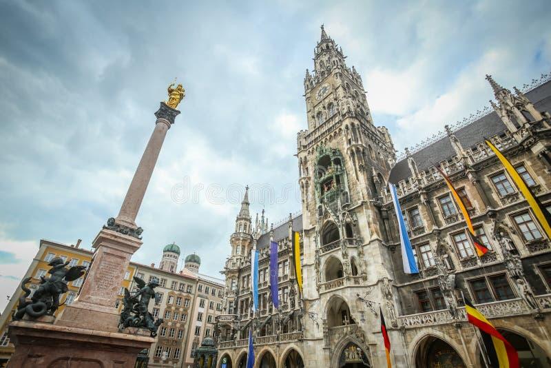 Câmara municipal nova em Munich fotos de stock