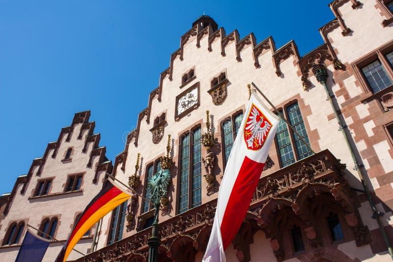 Câmara municipal Roemer de Francoforte imagens de stock