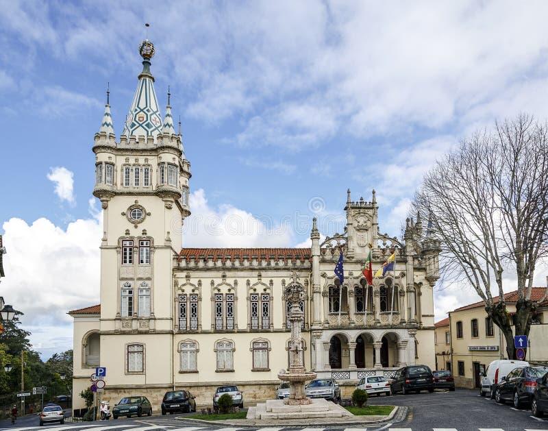 Câmara municipal, Sintra, Portugal fotografia de stock