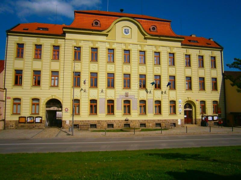Câmara municipal Trest Moravia Boêmia República Checa imagem de stock