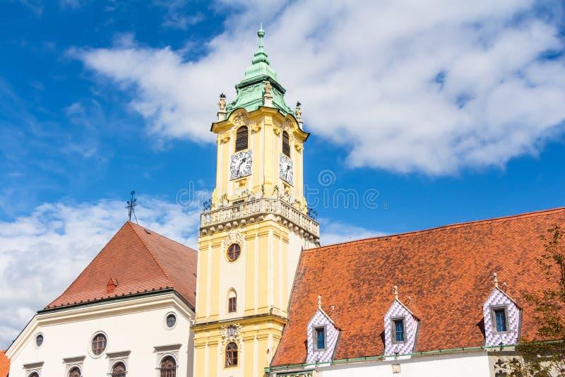 Câmara municipal velha Bratislava imagens de stock royalty free