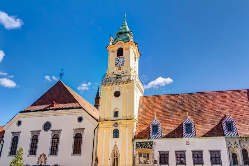 Câmara municipal velha Bratislava foto de stock