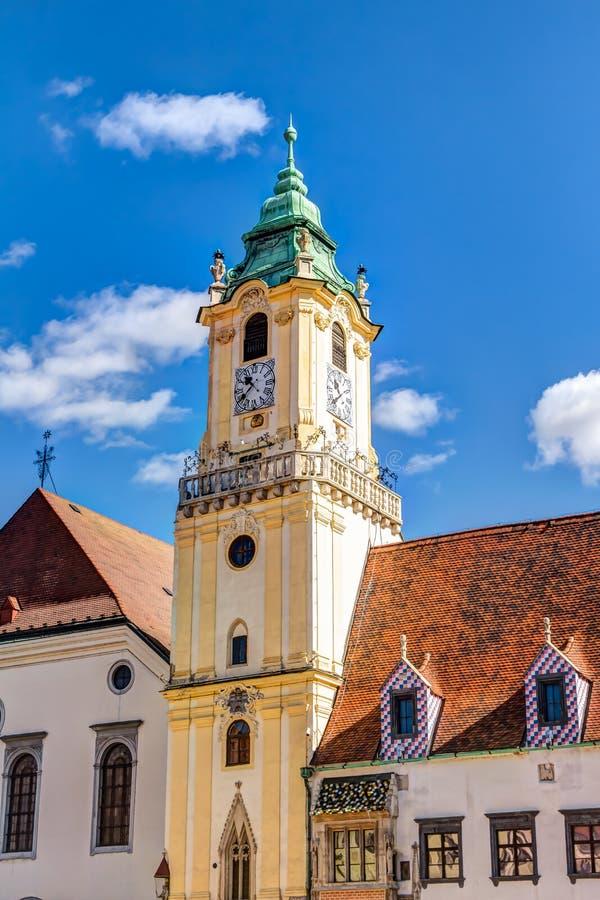 Câmara municipal velha Bratislava fotos de stock royalty free