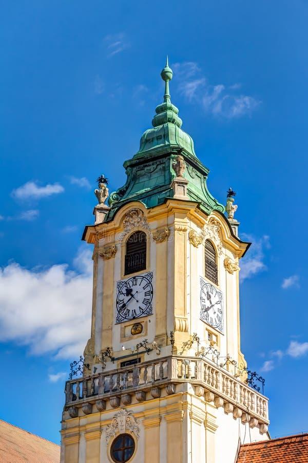 Câmara municipal velha Bratislava fotografia de stock