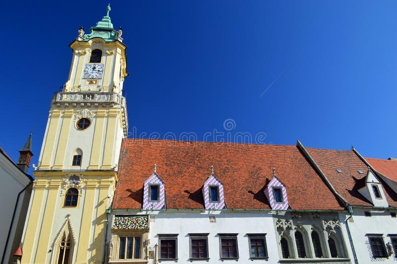 A câmara municipal velha, Bratislava, Slovakia imagens de stock royalty free