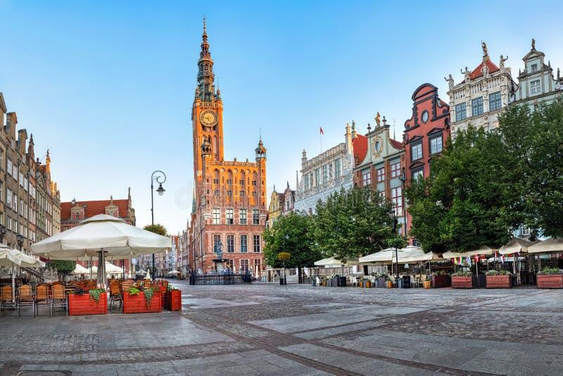 Câmara municipal velha de Gdansk, Polônia imagem de stock