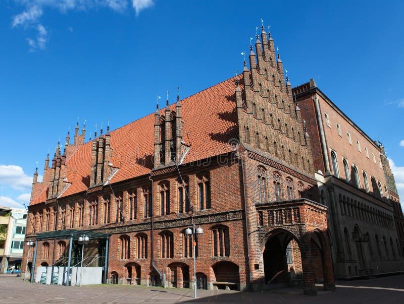 Câmara municipal velha de Hannover fotografia de stock