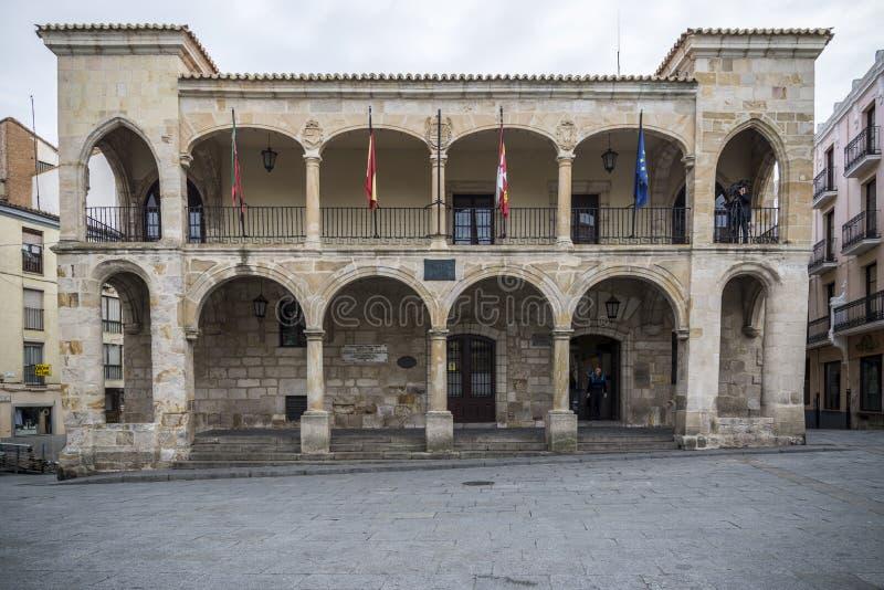 Câmara municipal velha de Zamora fotografia de stock