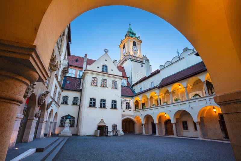 Câmara municipal velha em Bratislava foto de stock royalty free