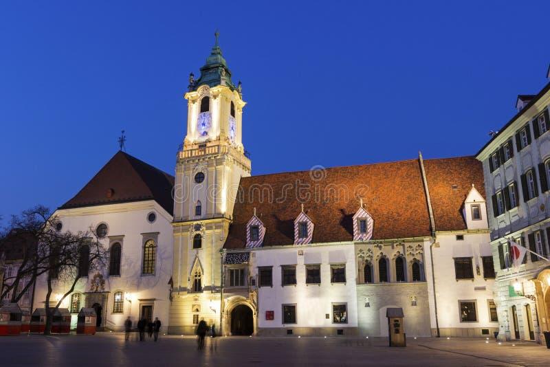 Câmara municipal velha em Bratislava imagem de stock