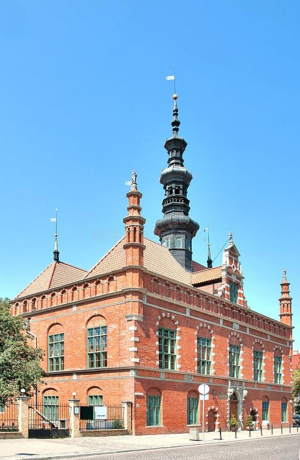 Câmara municipal velha em Gdansk, Polônia foto de stock royalty free