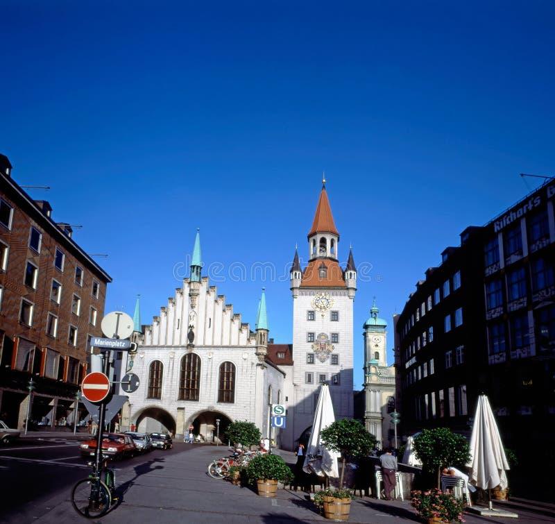 Câmara municipal velha em Munich, Alemanha fotografia de stock royalty free