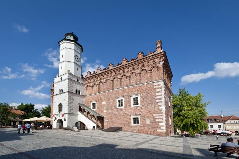 Câmara municipal velha em Sandomierz, Poland fotografia de stock royalty free