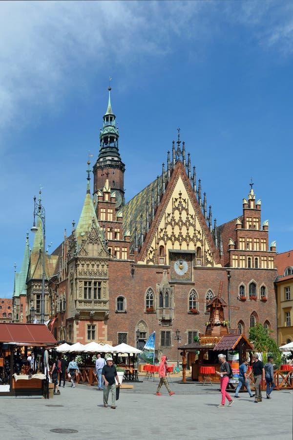 Câmara municipal velha em Wroclaw - Polônia fotografia de stock royalty free
