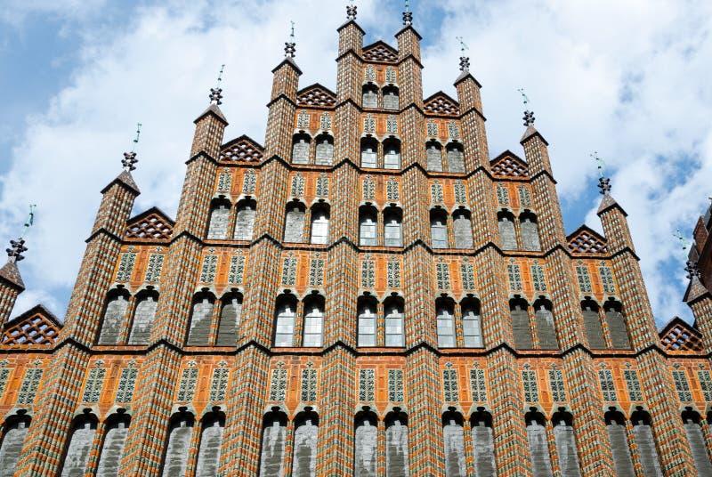 Câmara municipal velha, Hannover, Alemanha, Europa imagem de stock
