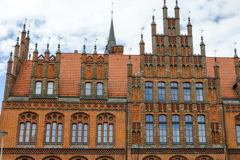 Câmara municipal velha, Hannover, Alemanha, Europa fotos de stock royalty free