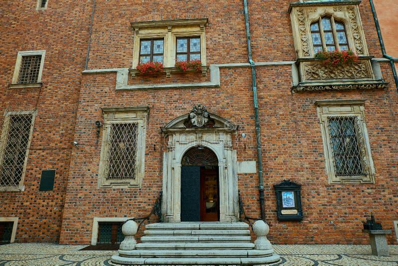 Câmara municipal velha no mercado em Wroclaw Wroclaw, mais baixo Silesian, Polônia imagem de stock