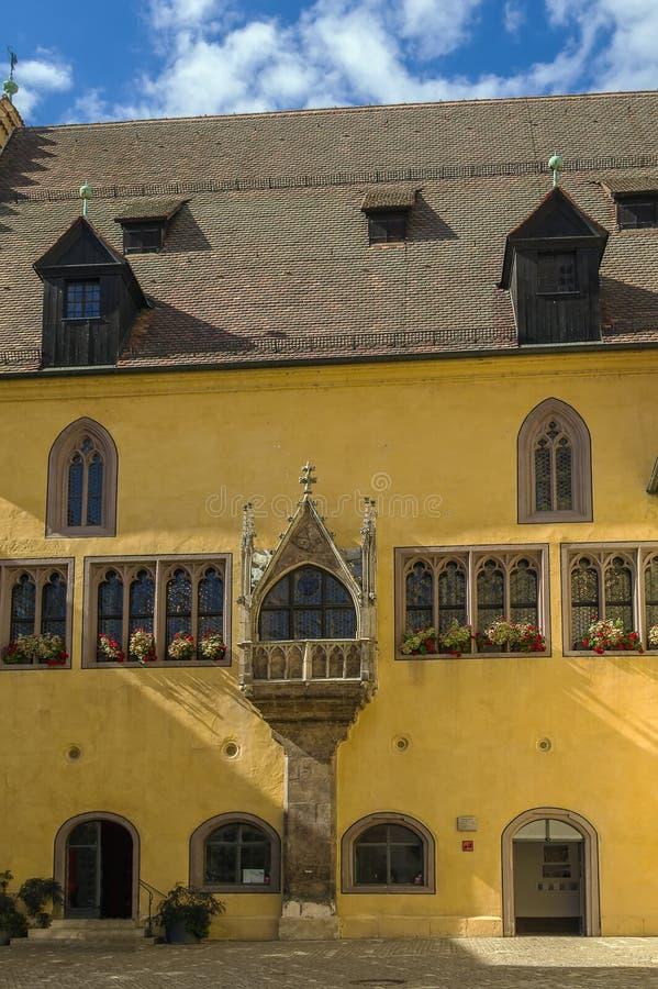 Câmara municipal velha, Regensburg, Alemanha foto de stock