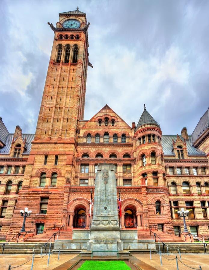 A câmara municipal velha, uma construção cívica românico e o tribunal em Toronto, Canadá fotografia de stock