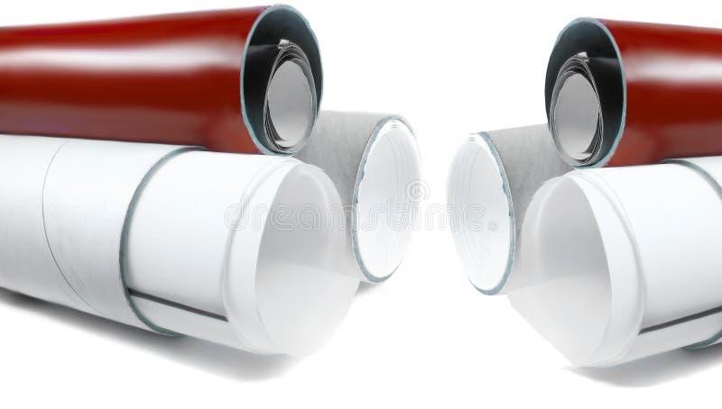 Câmaras de ar de papel imagem de stock